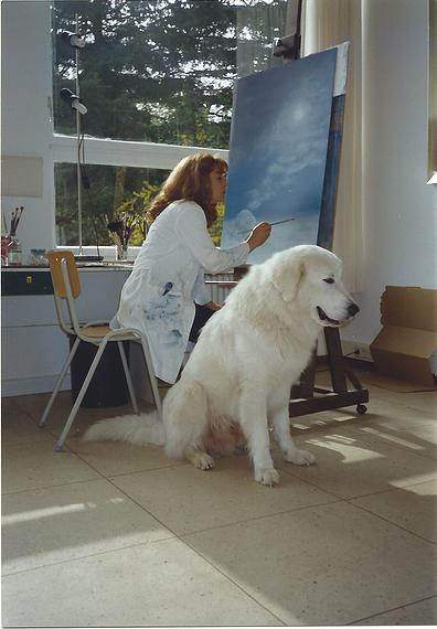 1999 Atelier for Painting with her Dog