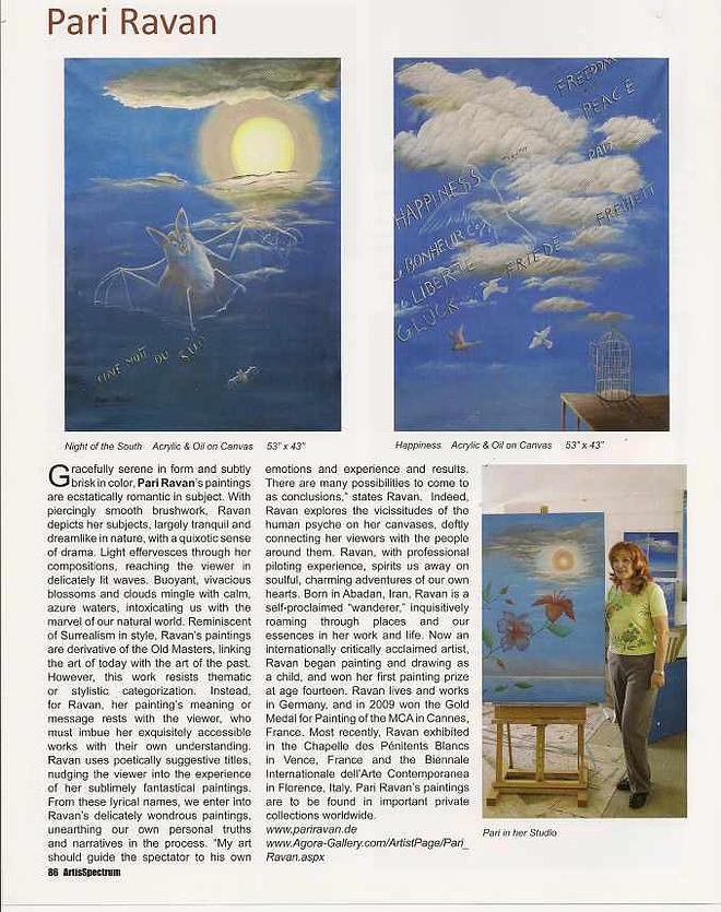 Artis Spectrum Magazine Newyork 2010