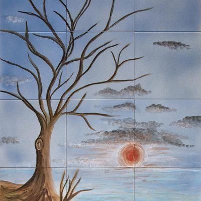 Baum Im Herbst - 80 x 60 cm