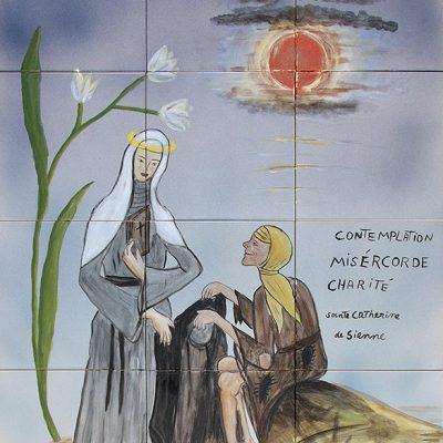 Catherina de Sienne - 80 x 60 cm