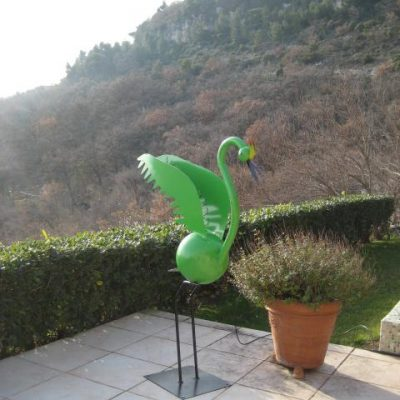 Green Crane - Sold - H160 x L80 cm - Forged Steel