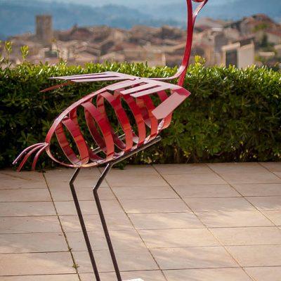 Red Crane - 170 x 100 cm - Forged Steel